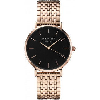 ROSEFIELD THE UPPER EAST SIDE ROSE GOLD / BLACK 33 MM