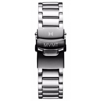 MVMT MENS 40 SERIES 20MM STEEL BAND SILVER