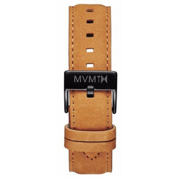 MVMT MENS 40 SERIES 20MM TAN LEATHER BLACK