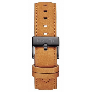 MVMT MENS 40 SERIES 20MM TAN LEATHER GUNMETAL