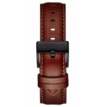 MVMT MENS 40 SERIES 20MM NATURAL LEATHER BLACK