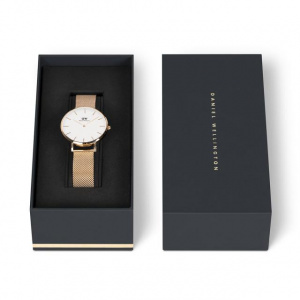 Hodinky DANIEL WELLINGTON CLASSIC PETITE MELROSE ROSE GOLD 32MM