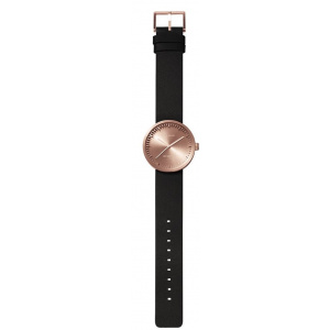 Hodinky LEFF Tube watch 38 – rose gold / black leather
