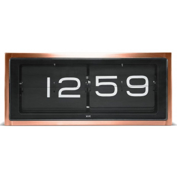 LEFF wall/desk clock brick copper 24h black