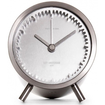 LEFF Tube clock steel