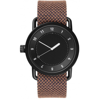 TID Watches No.1 Black / Rust Twain Wristband