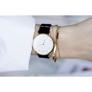 Hodinky ROSEFIELD THE WEST VILLAGE BLACK GOLD / 33 MM