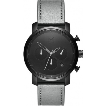 MVMT CHRONO SERIES - 40 MM BLACK SAGE GREY LEATHER