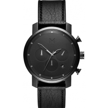 MVMT CHRONO SERIES - 40 MM BLACK LEATHER