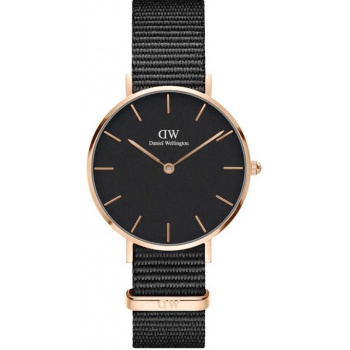 DANIEL WELLINGTON CLASSIC PETITE CORNWALL ROSE GOLD BLACK 32MM