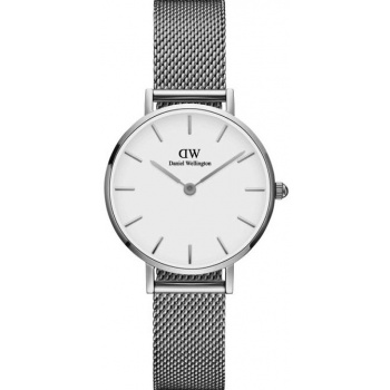 DANIEL WELLINGTON CLASSIC PETITE STERLING 28 MM/SILVER/WHITE