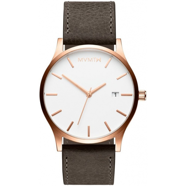 Hodinky MVMT CLASSIC SERIES - 45 MM ROSE GOLD MUSHROOM GREY
