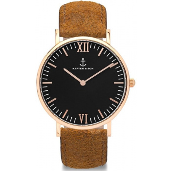 KAPTEN and SON Black Brown Vintage Leathe