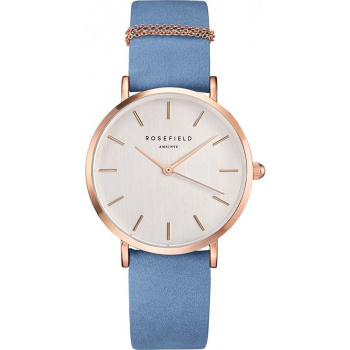 ROSEFIELD THE WEST VILLAGE AIRY BLUE - ROSE GOLD / 33MM WAGR-W76