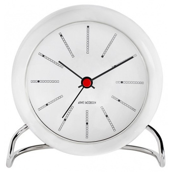 ARNE JACOBSEN AJ TABLE CLOCK BANKERS W/ALARM