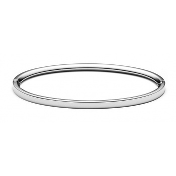MVMT ELLIPSE BANGLE THIN SILVER