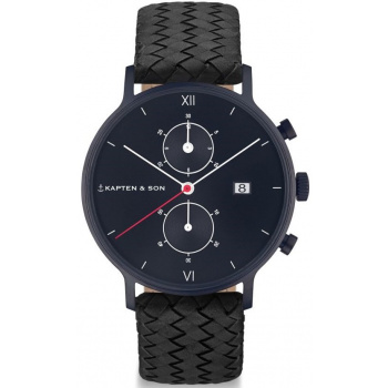 KAPTEN and SON CHRONO BLACK MIDNIGHT WOVEN