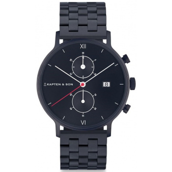 KAPTEN and SON CHRONO BLACK MIDNIGHT STEEL