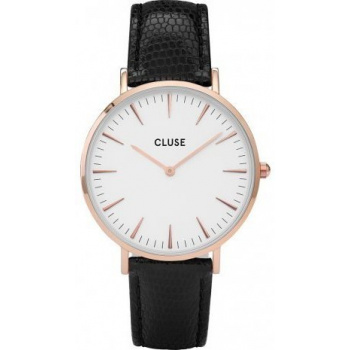 CLUSE LA BOHÈME ROSE GOLD WHITE/BLACK LIZARD