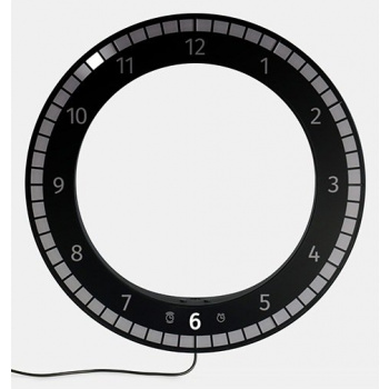 KIBARDINDESIGN THE ONLY CLOCK - BLACK & BLACK