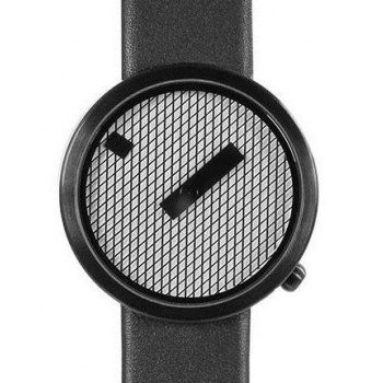NAVA JACQUARD BLACK LEATHER STRAP