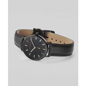 Hodinky THE HORSE BLACK / BLACK LEATHER