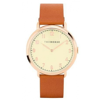 THE HORSE THE HERITAGE POLISHED ROSE GOLD / TAN
