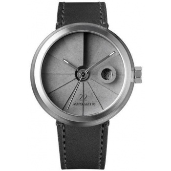 22 DESIGN STUDIO 4D Concrete Watch Automatic - Minimal Edition Stainless Steel Look