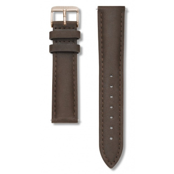 ROSEFIELD BOWERY BROWN STRAP ROSE GOLD / 38MM