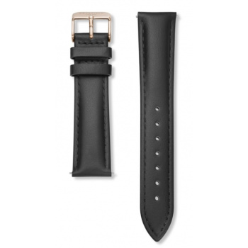 ROSEFIELD BOWERY BLACK STRAP ROSE GOLD / 38MM