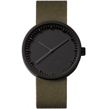 LEFF TUBE WATCH D42 / BLACK GREEN CORDURA STRAP