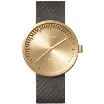 LEFF TUBE WATCH D42 / BRASS GREY CORDURA STRAP