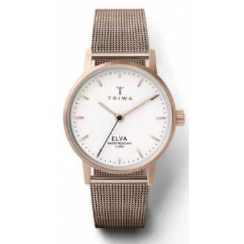 TRIWA SNOW ELVA ROSE GOLD CLASSIC