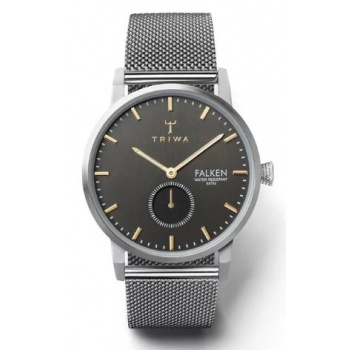 TRIWA SMOKY FALKEN MESH STAINLESS STEEL CLASSIC