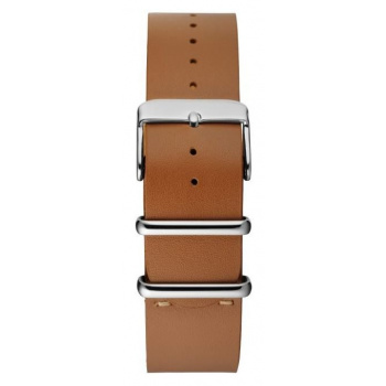 CHPO 14224DD-S Brown Leather Nato Strap - 20 mm