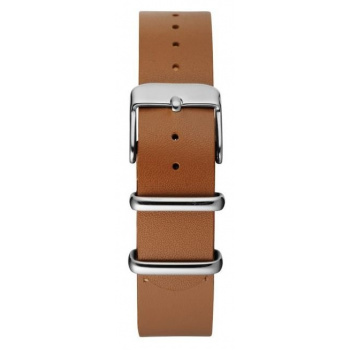 CHPO 14228AA-S Brown Leather Nato Strap - 15 mm