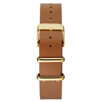 CHPO 14228DD-S Brown Leather Nato Strap - 15 mm