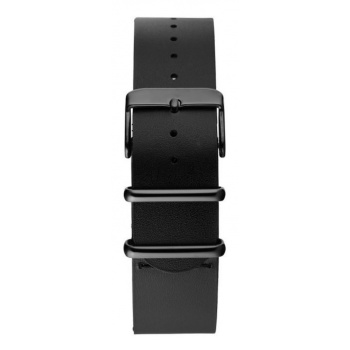 CHPO 14229CC-S Black Leather Nato Strap - 20 mm