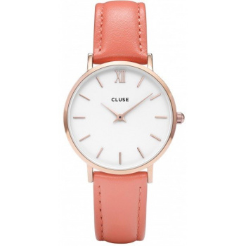 CLUSE MINUIT ROSE GOLD WHITE/FLAMINGO CL30045