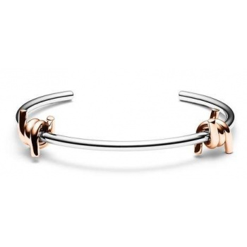 MVMT DOUBLE BARBED CUFF SILVER/ROSE GOLD