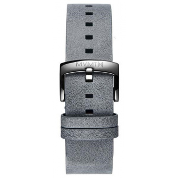 MVMT MENS BLACKTOP SERIES 24MM GREY LEATHER SILVER