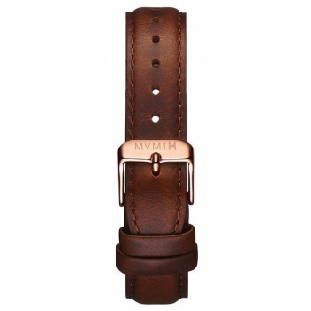 MVMT WOMENS SIGNATURE SERIES 18MM BROWN LEATHER ROSE GOLD