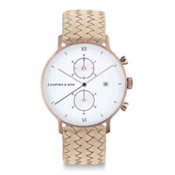 KAPTEN and SON CHRONO SAND WOVEN LEATHER