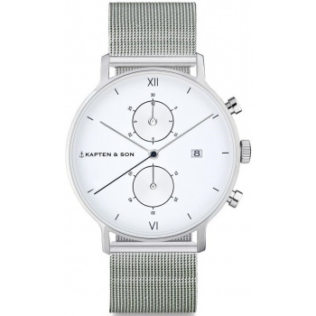 KAPTEN and SON CHRONO SILVER MESH