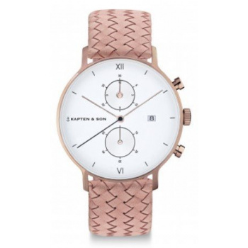 KAPTEN and SON CHRONO ROSE WOVEN LEATHER