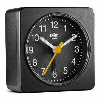 BRAUN BNC019 CLASSIC TRAVEL ALARM CLOCK/BLACK