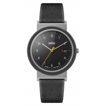 BRAUN GENTS AW 10 EVO CLASSIC WATCH WITH LEATHER STRAP/SILVER