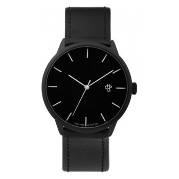 CHPO KHORSHID NOIR BLACK / BLACK VEGAN LEATHER STRAP