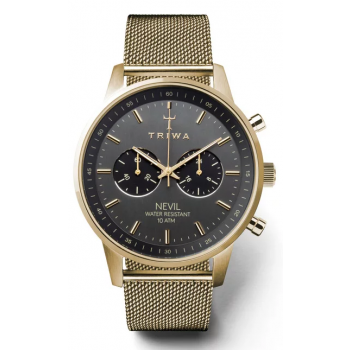 TRIWA SMOKY NEVIL GOLD CHRONOGRAPH