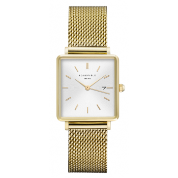 ROSEFIELD THE BOXY WHITE - GOLD / 33MM